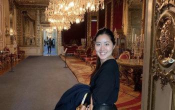 スウェーデン王宮殿にて。松田さん